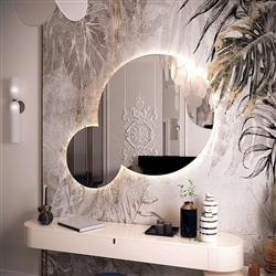 Зеркало с подсветкой Due in uno