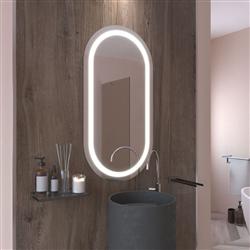 Овальное зеркало с подсветкой Nika