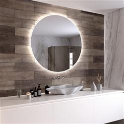 Круглое зеркало с подсветкой Sole