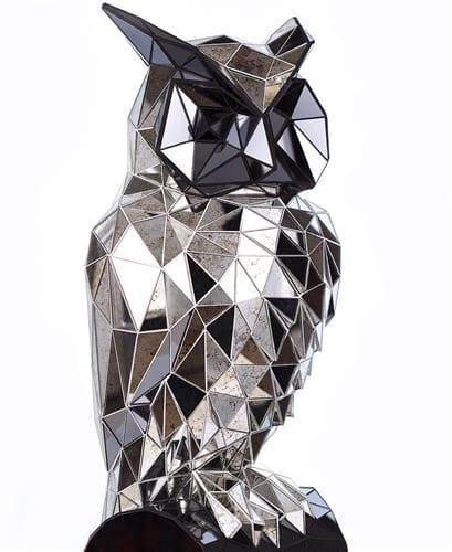 Зеркальная скульптура Сова Art. MS555