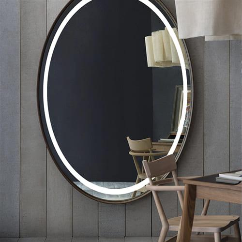 Овальное зеркало с подсветкой Rosy