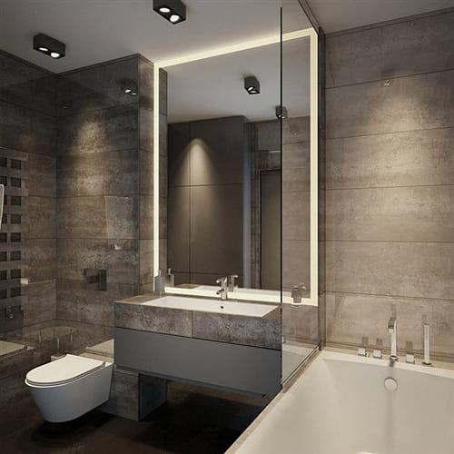 Зеркало с подсветкой Loft