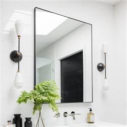 Зеркало в алюминиевой раме Simple Silver