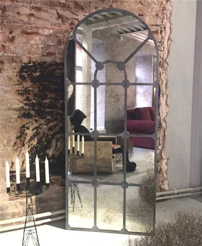Состаренное зеркало в металлической раме London Art. 7000
